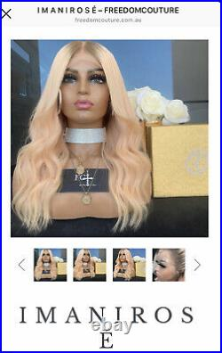 New Authentic Freedom Couture Human Hair Wig Imani Rose 14 Full Lace Medium 150
