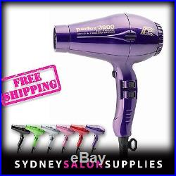 New PARLUX 3800 PURPLE Hair Dryer Ceramic & Ionic Super Compact Hairdryer