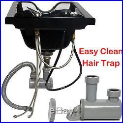 New Upgrade Top PP Beauty Salon Barber Shop Equipment Plastic Shampoo Bowl Sink