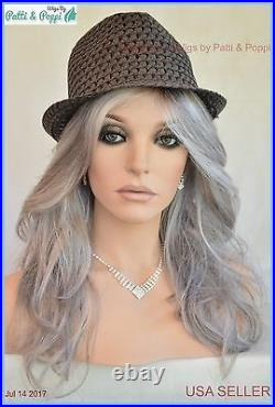 Orchid Lace Front W Lace Part Wig GREY ROOTED CROMERT1B NIB MUST SEE