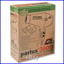 PARLUX 3800 Hair Dryer Ceramic & Ionic Super Compact Hairdryer CHOICE OF COLOUR