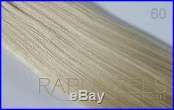Platinum blonde, lightest blonde, Rapunzels human hair extensions weave weft