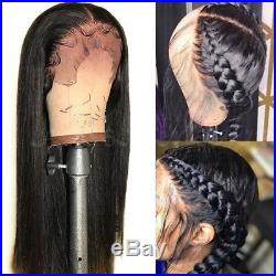 Pre Plucked 360 Lace Front 100% Brazilian Human Hair Wig Glueless Full Lace Wigs