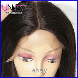 Pre Plucked 360 Lace Frontal UNice Peruvian Straight Human Hair Lace Closure US