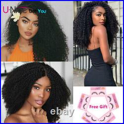 Pre Plucked Kinky Curly Lace Front Wig 100% Virgin Peruvian Human Hair Wigs 16