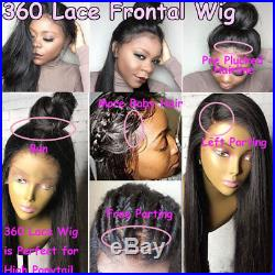Pre Plucked Natural Peruvian Virgin Human Hair Curly 360 Full Frontal Lace Wig s