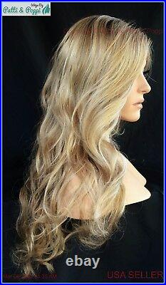 RYLEE Wig by RENE OF PARIS Rose Gold R NEWEST STYLE, Lace Front, Mono Part