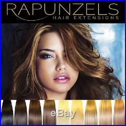 Real human remy ready to wear clip in hair extensions 7 or 14 pieces