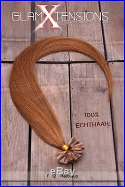 Remy dicke Echthaar Strähnen Extensions Haarverlängerung 60cm 1g Strähne Keratin