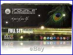 Royale Full Set-Peacock 100%Ceramic Hair Straightener+Curler+Mini Flat Iron