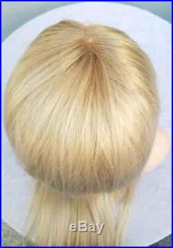 Sandy Balayage Ash light blonde, human hair wig, Lace Frontal