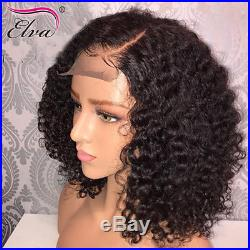 Short Bob Brazilian Human Hair Lace Front Wigs Remy Curly Full Lace Wigs