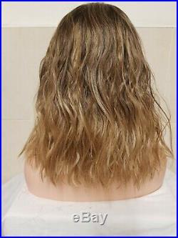 Short Bob Sandy Dirty Blonde Ash Brown Real Human Hair Wig Lace Front