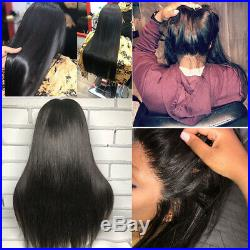 Silky Straight Peruvian 13x4 Glueless Lace Front Wig 100% Virgin Human Hair Wigs