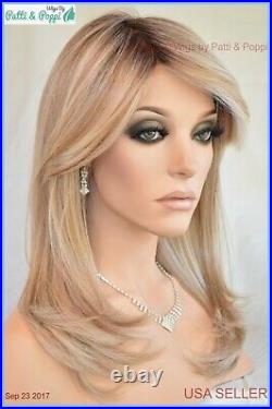 Spotlight Lace Front Heat Friendly Monotop Wig Raquel Welch Shaded Biscuit