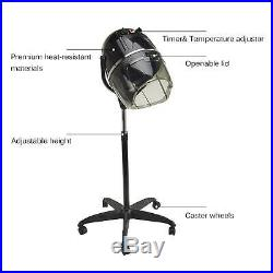 Stand Up Hair Dryer Timer Swivel Hood Caster for Salon Beauty Professional new