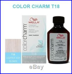 Wella Color Charm Permanent Liquid Hair Toner T18 Lightest Ash Blonde