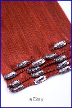 XXL VOLUMEN Remy Echthaar 55 cm Haarverlängerung Clip In Extensions 140 GRAMM